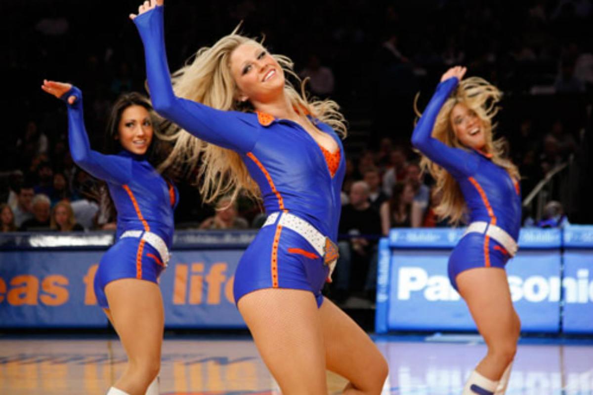 Knicks City Dancers en el Madison Square Garden