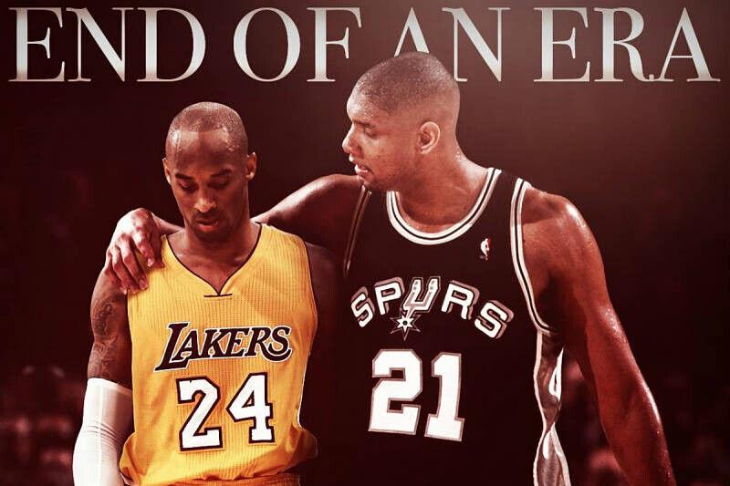 Kobe Bryant y Tim Duncan, dos leyendas de la NBA