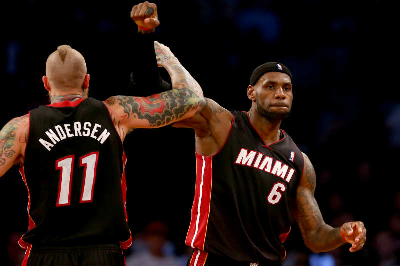 LeBron James, Chris Andersen