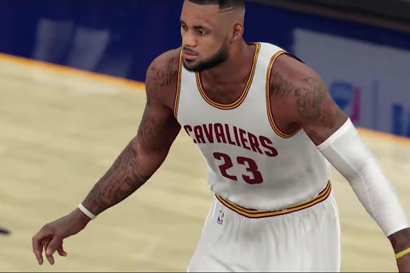 LeBron James en el NBA 2K