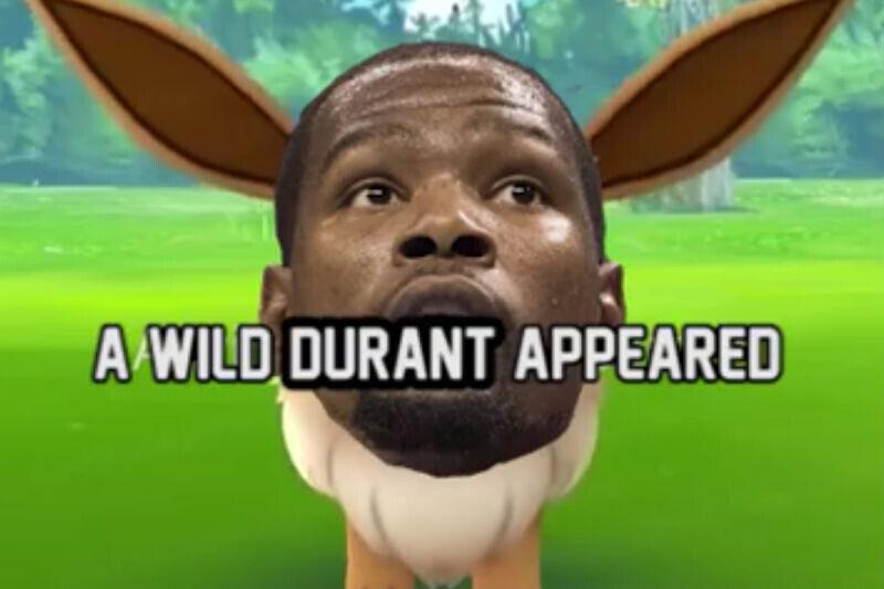 Kevin Durant en forma de Pokemon
