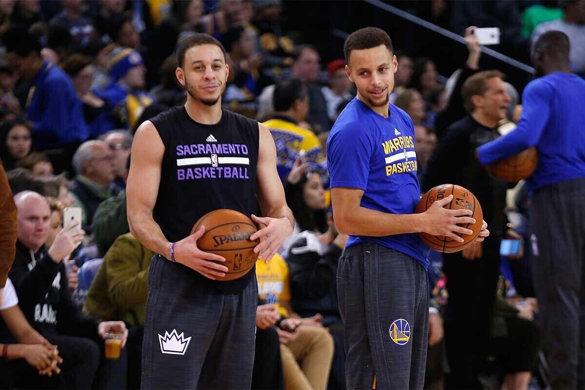 Seth y Stephen Curry