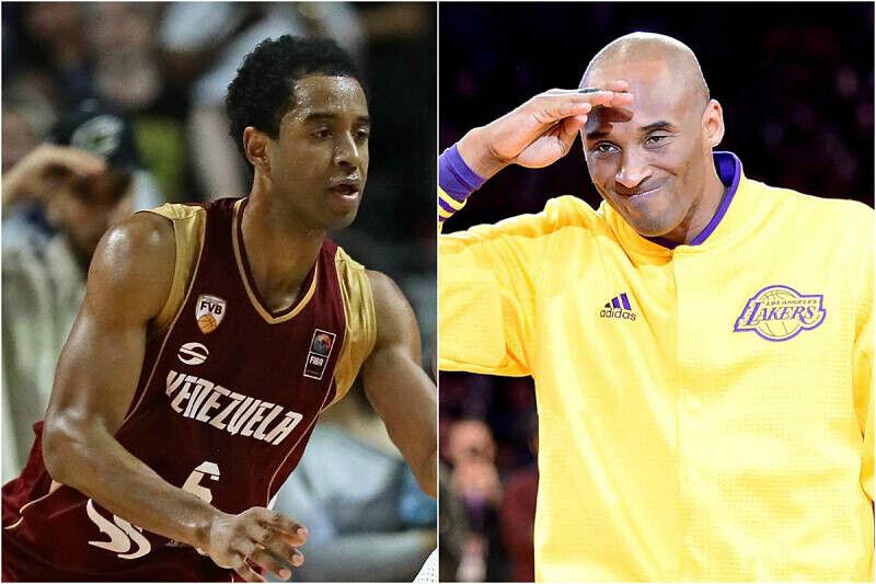 John Cox y Kobe Bryant, primos y jugadores de baloncesto