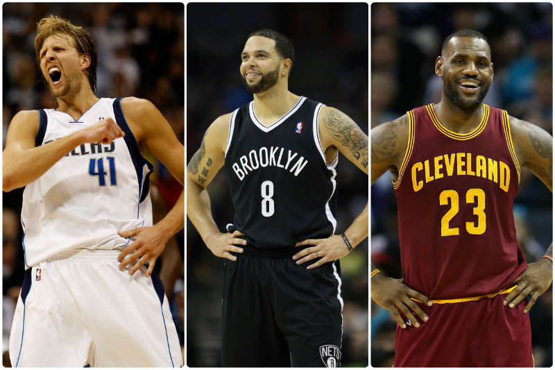 Deron Williams, LeBron James, Dirk Nowitzki