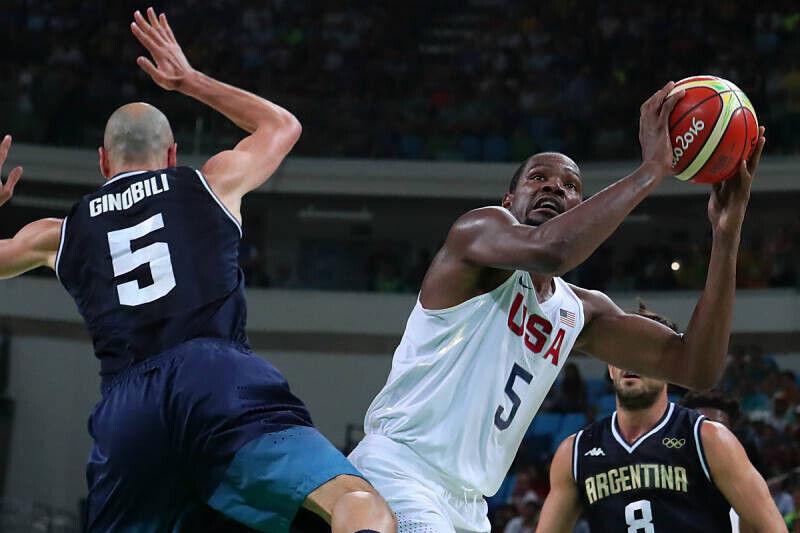 Kevin Durant, jugador del Team USA