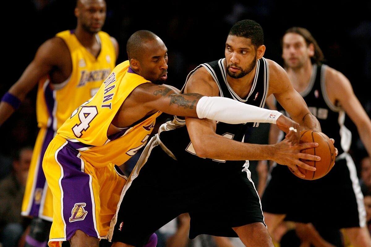 Kobe Bryant y Tim Duncan