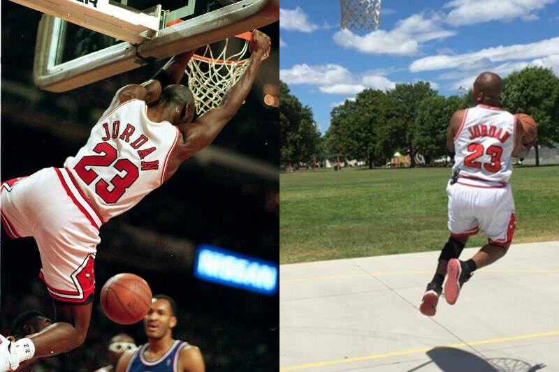 Michael Jordan y aficionado