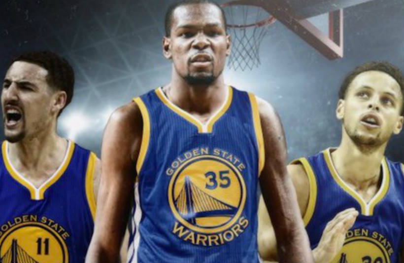 Stephen Curry, Klay Thompson, Kevin Durant