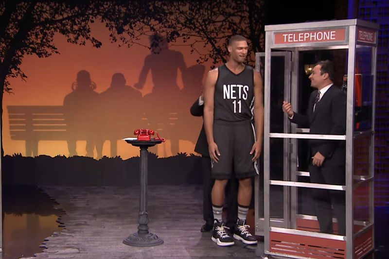 Brook Lopez con Jimmy Fallon