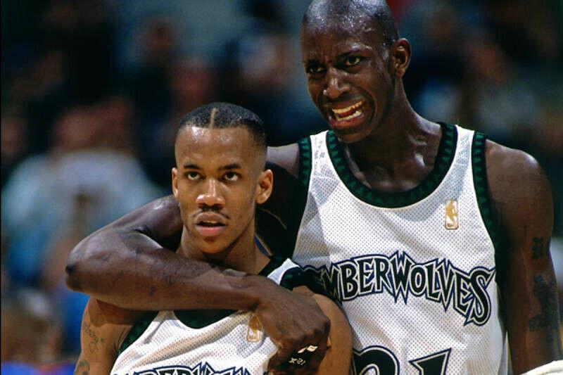 Kevin Garnett y Stephon Marbury en Minnesota Timberwolves
