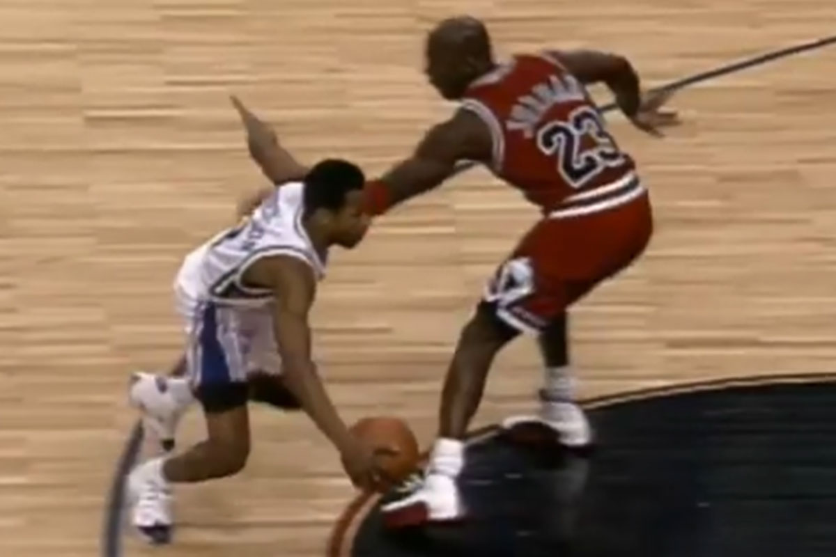 Allen Iverson y Michael Jordan