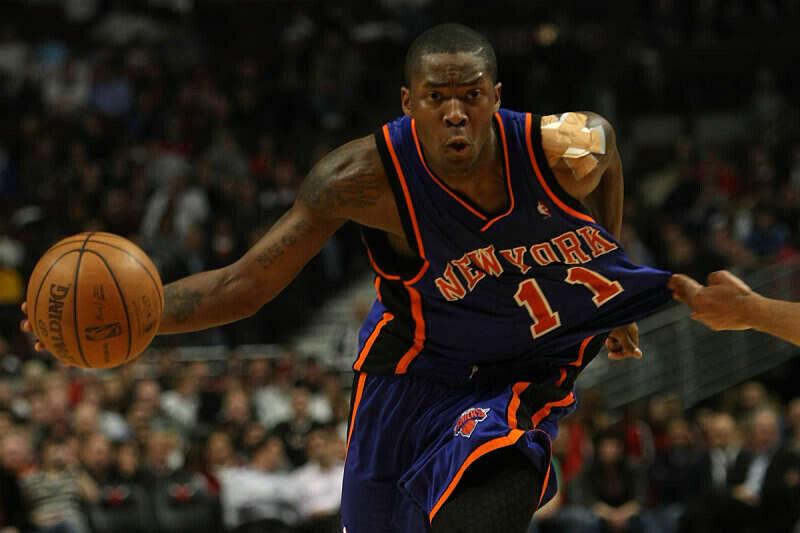 Jamal Crawford con el uniforme de New York Knicks
