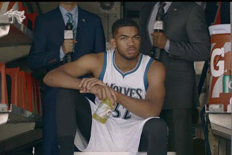 Karl-Anthony Towns en un spot de Gatorade