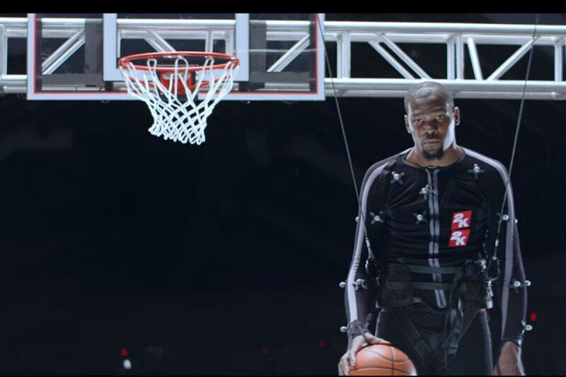 Kevin Durant en un comercial del NBA 2K17