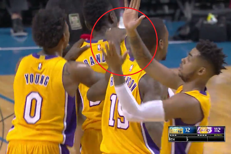 D'Angelo Russell, jugador de Los Angeles Lakers