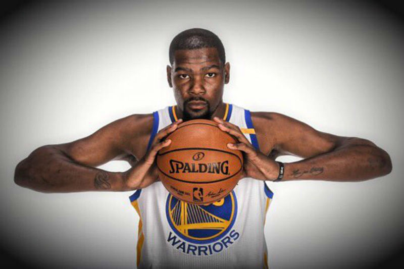 Kevin Durant, jugador de los Warriors