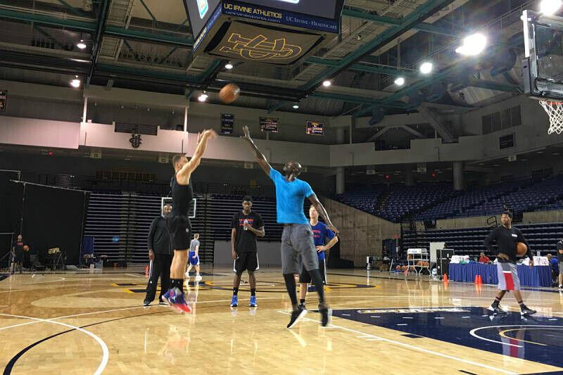 Kevin Garnett en el entrenamiento de los Clippers