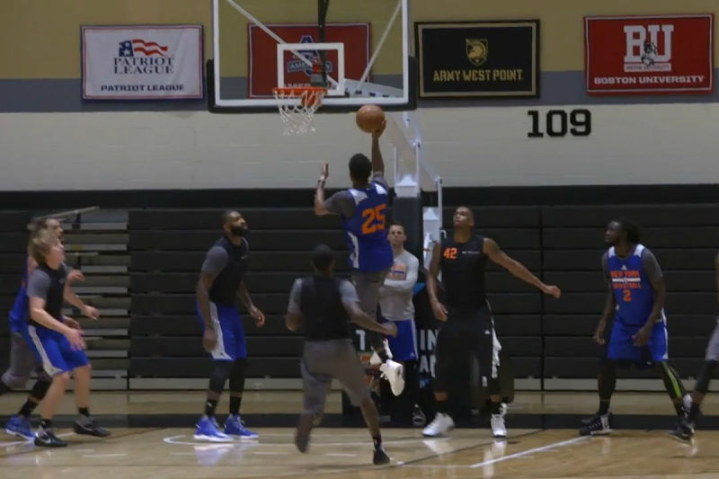 New York Knicks en el training camp