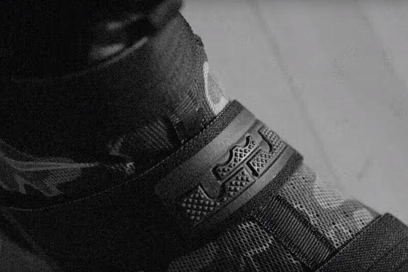 Un detalle de las Nike LeBron Soldier 10