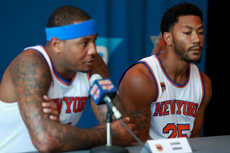 during the New York Knicks Media Day at the Ritz Carlton on September 26, 2016 in White Plains, New York.