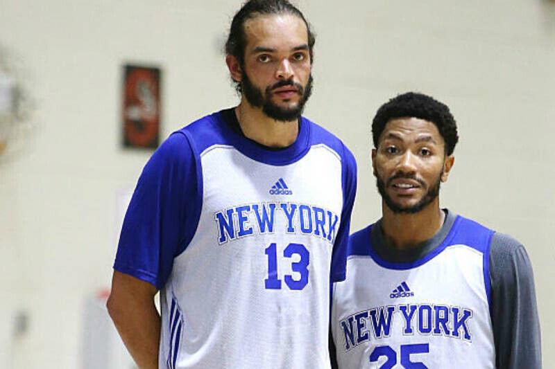 Derrick Rose y Joakim Noah, jugadores de New York Knicks