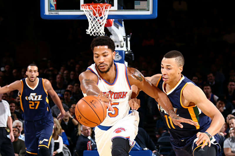 Derrick Rose, jugador deNew York Knicks