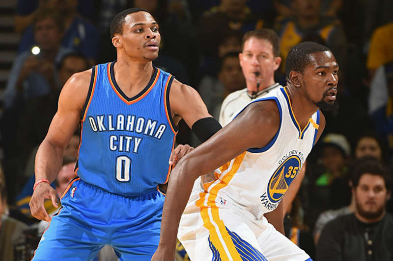 Kevin Durant y Russell Westbrook, cara a cara