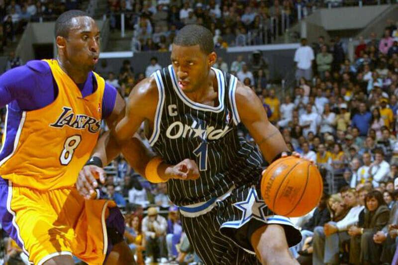 Kobe Bryant y Tracy McGrady, dos leyendas de la NBA