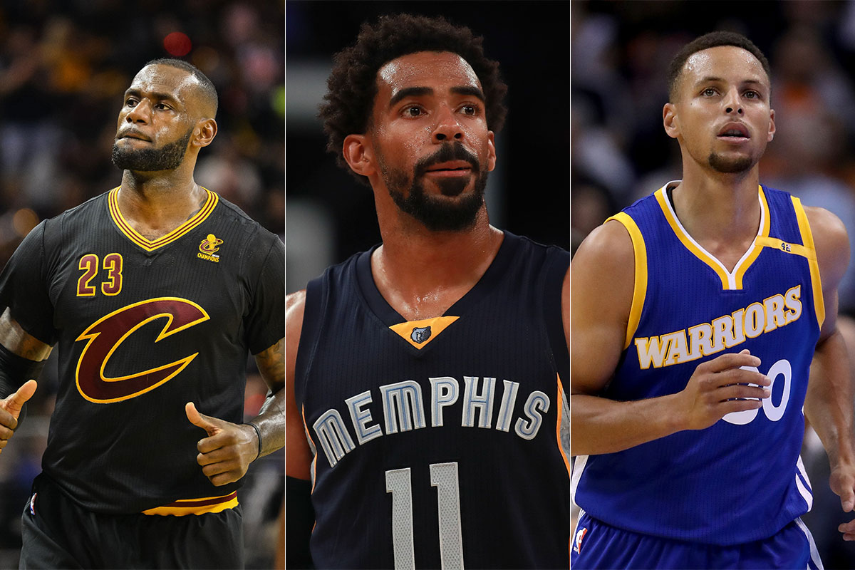 LeBron James, Stephen Curry, Mike Conley