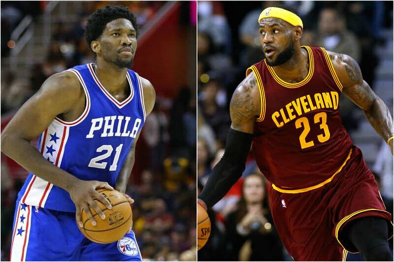 LeBron James y Joel Embiid, estrellas NBA