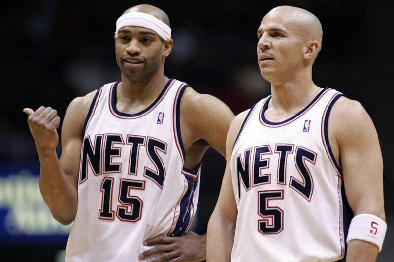 Vince Carter y Jason Kidd, jugadores de los Nets
