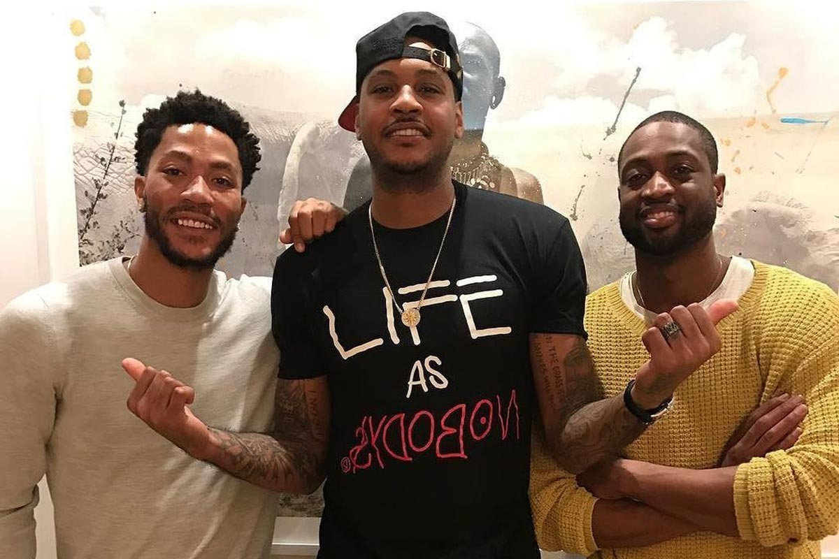 Carmelo Anthony, Wade y Rose