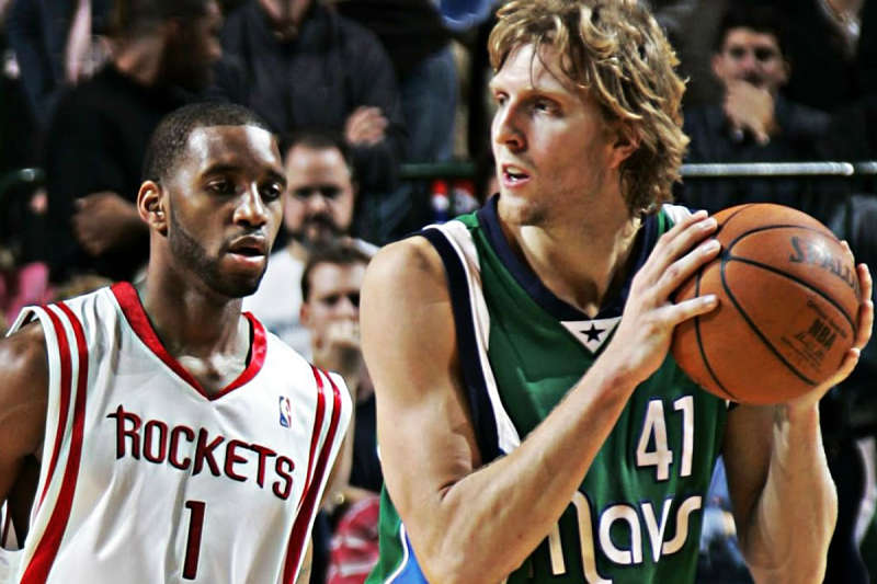 Dirk Nowitzki y Tracy McGrady, leyendas NBA