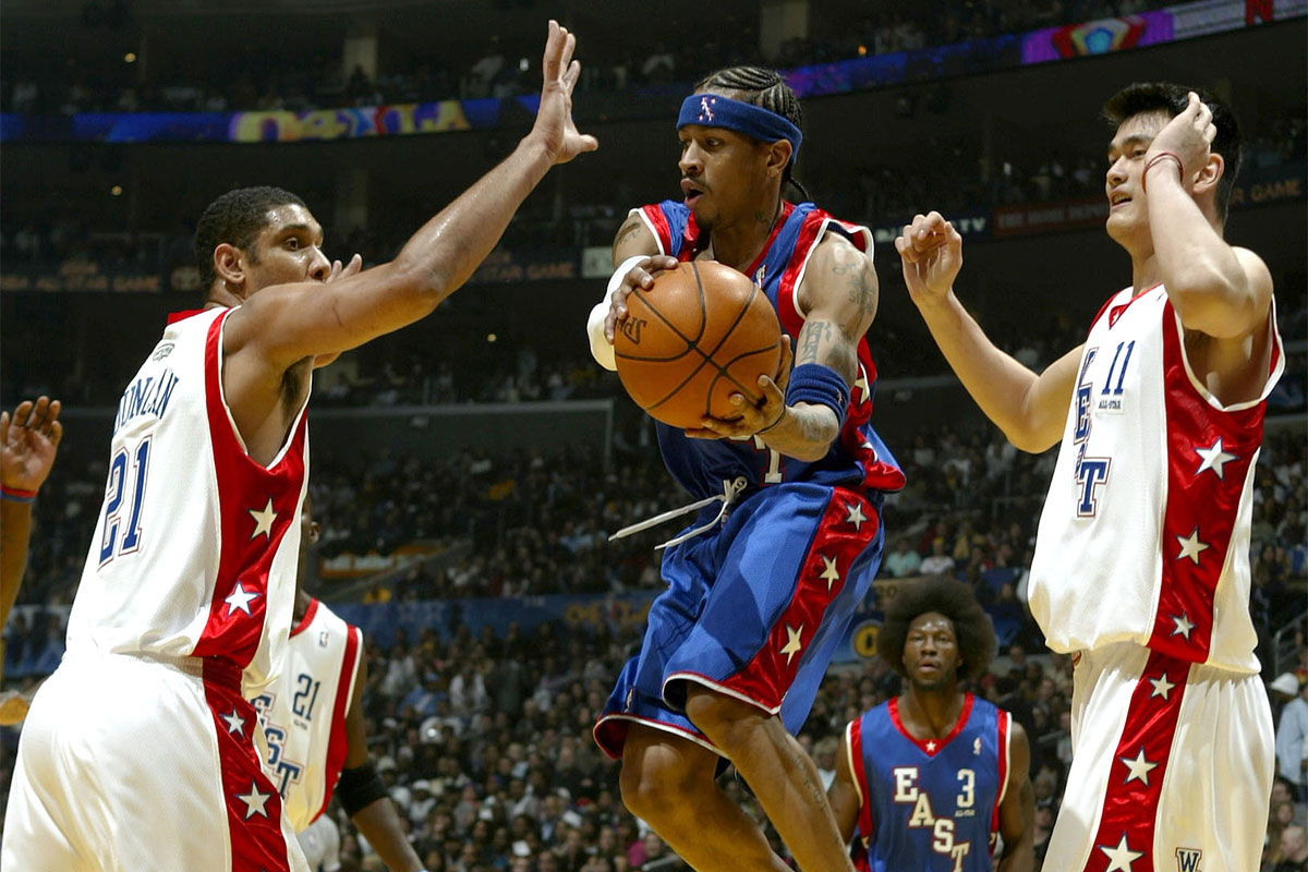 Allen Iverson, Tim Duncan, Yao Ming