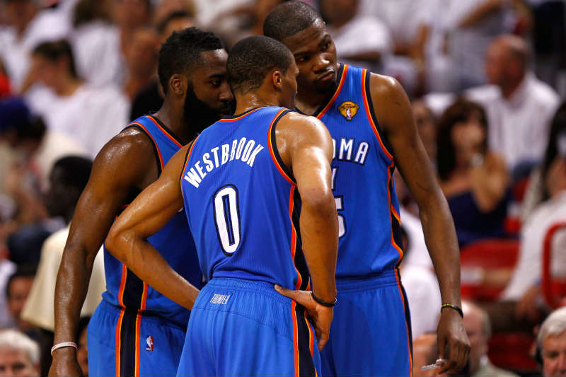 Kevin Durant, James Harden, Russell Westbrook