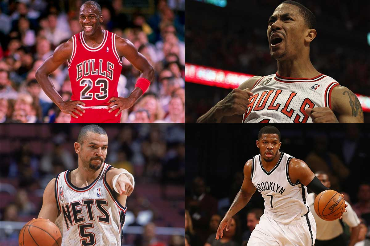 Jason Kidd, Michael Jordan, Derrick Rose, Joe Johnson