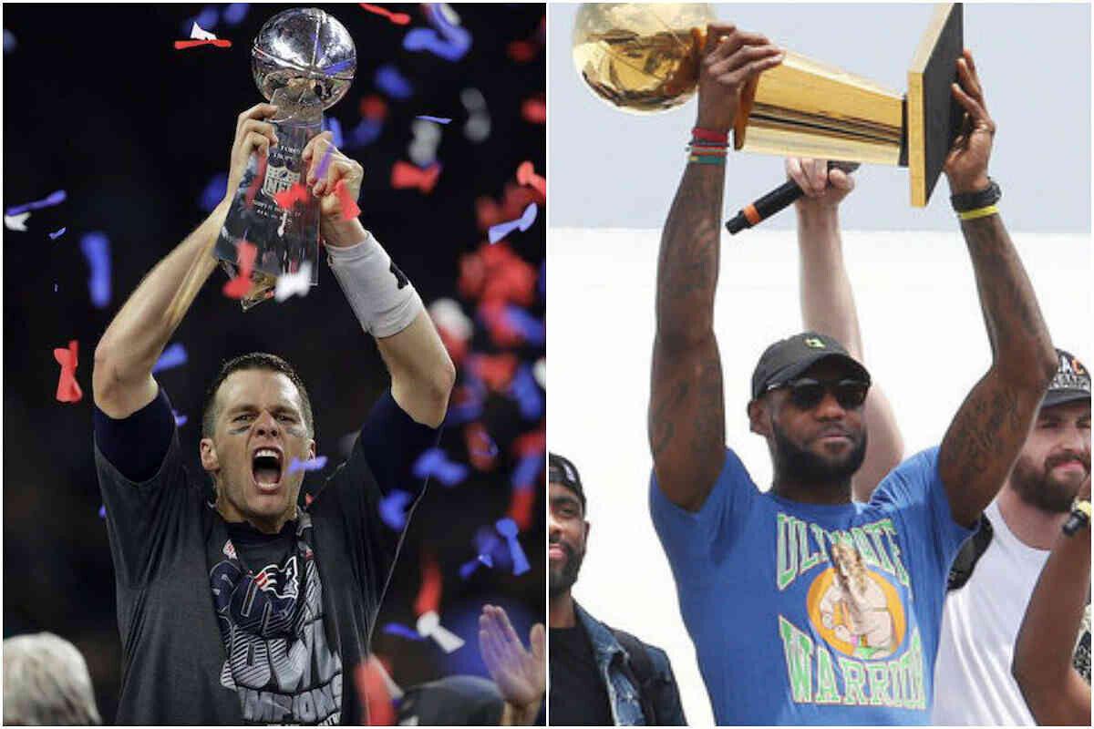 Tom Brady y LeBron James, estrellas del deporte