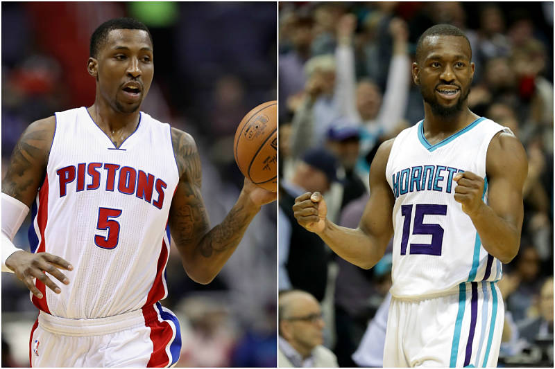 Kemba Walker y Kentavious Caldwell-Pope, jugadores de la NBA