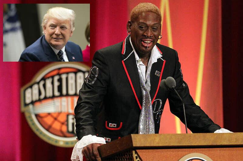 Dennis Rodman, Donald Trump