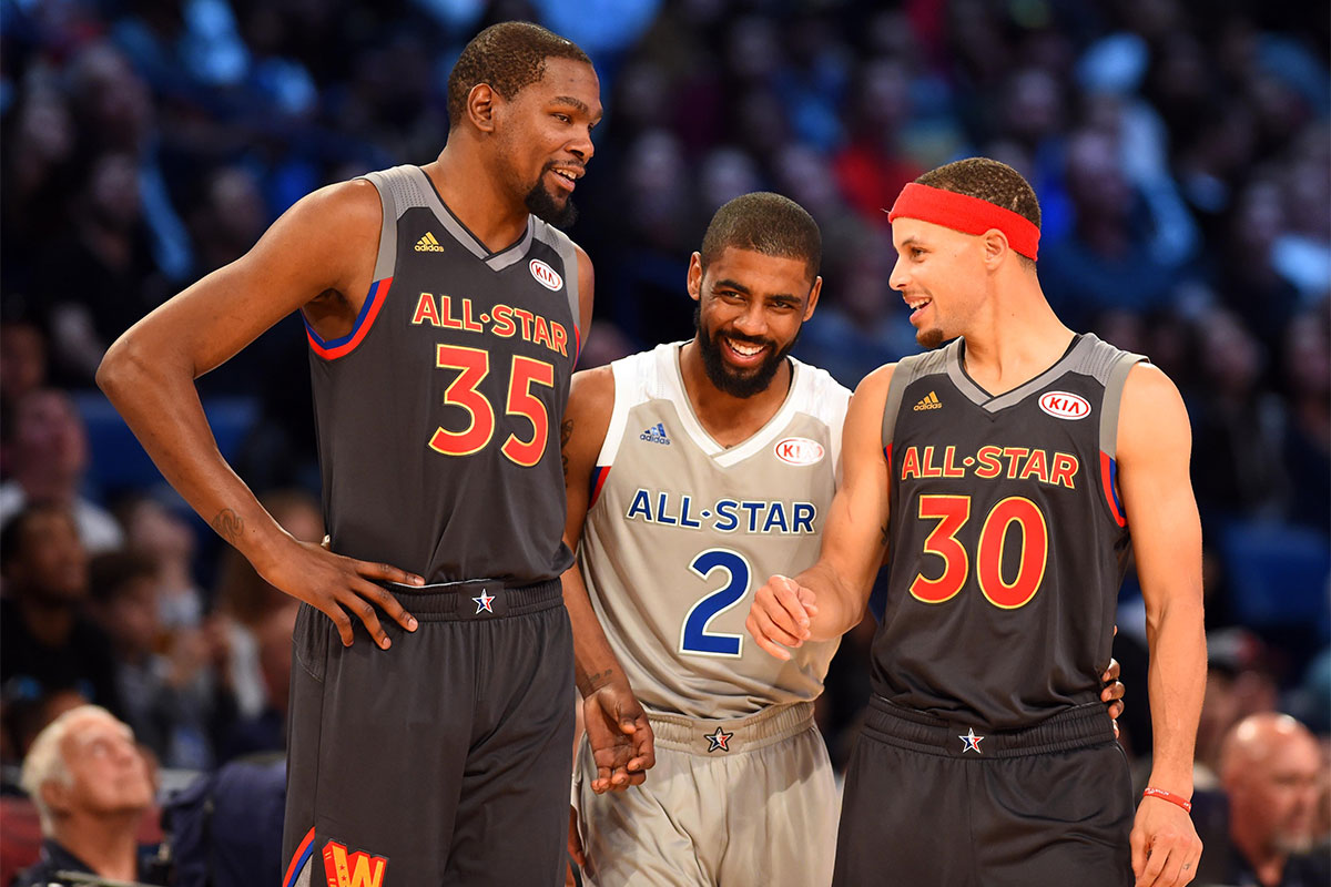 Kevin Durant, Stephen Curry, Kyrie Irving