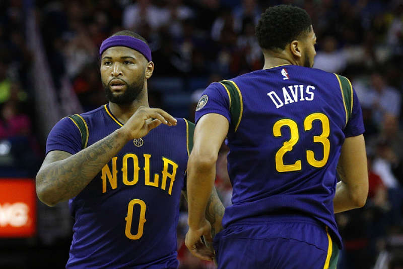 DeMarcus Cousins y Anthony Davis, estrellas de la NBA