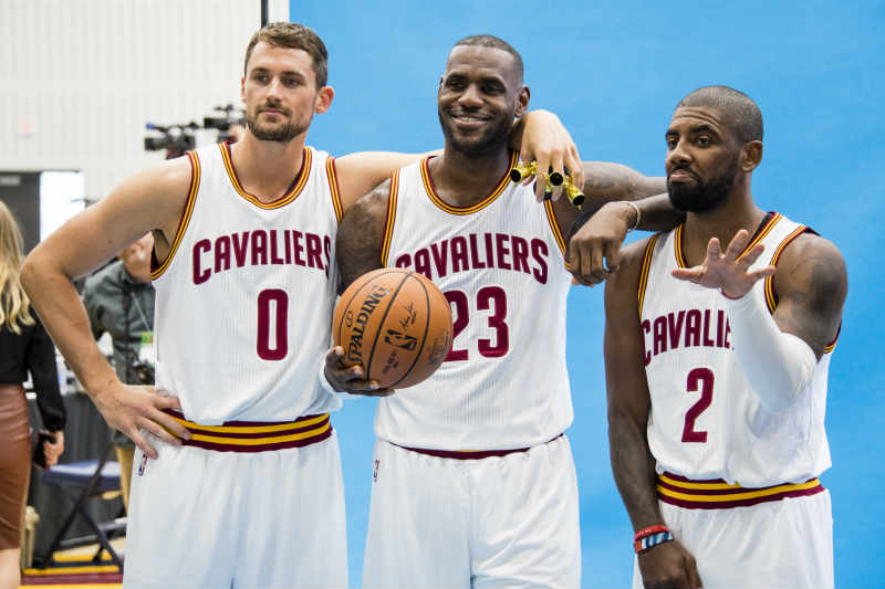 LeBron James, Kyrie Irving, Kevin Love