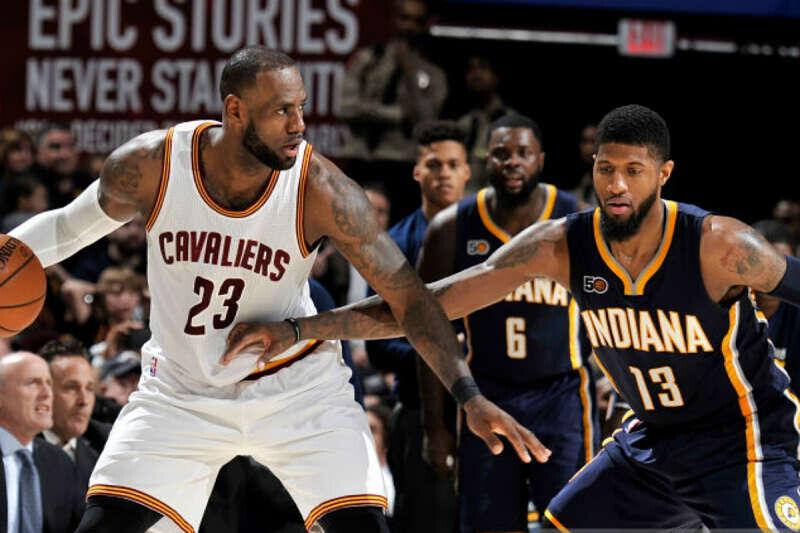 LeBron James y Paul George, estrellasde la NBA