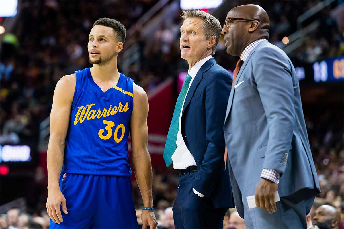 Mike Brown, Steve Kerr, Stephen Curry