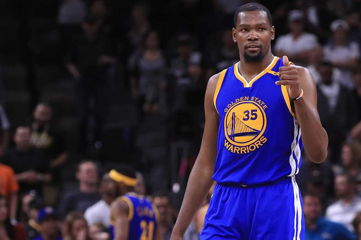Kevin Durant, jugador de Golden State Warriors