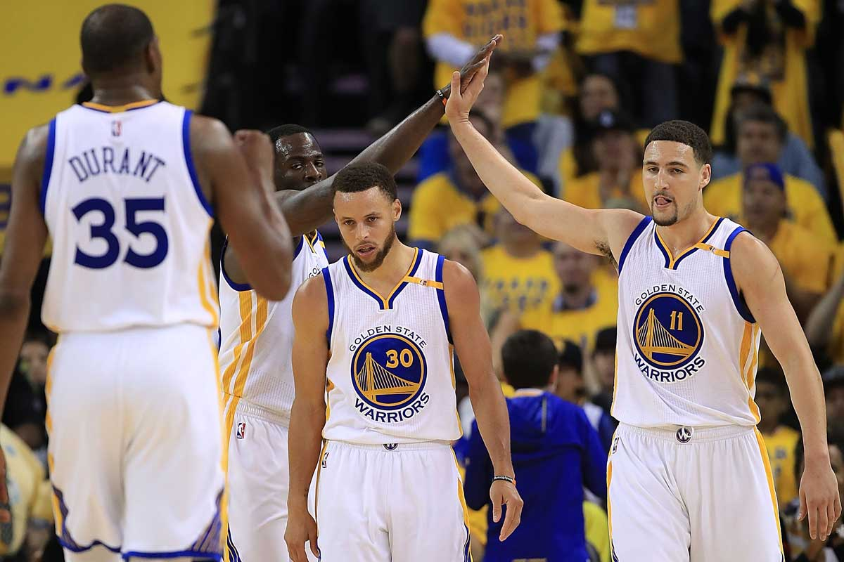 Kevin Durant, Stephen Curry y Klay Thompson