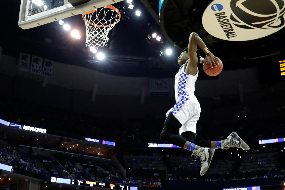 De'Aaron Fox, jugador de la Universidad de Kentucky