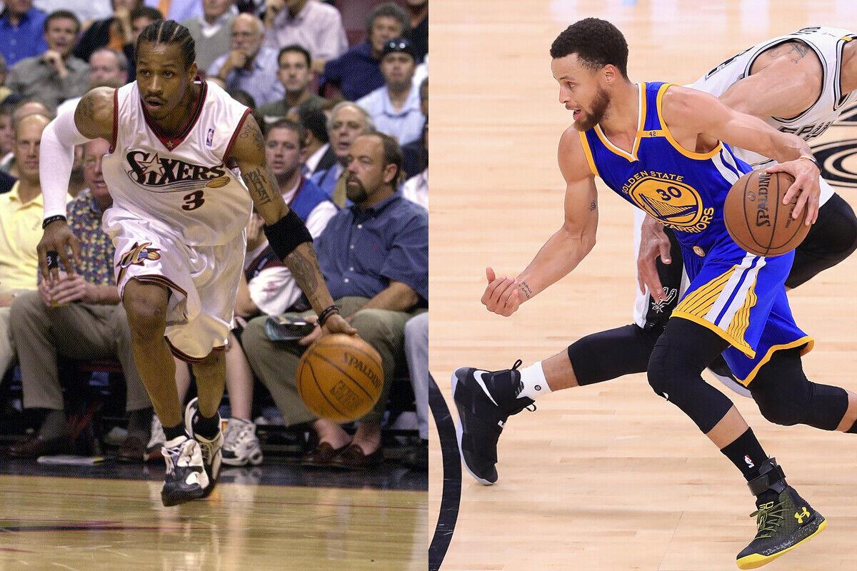 Allen Iverson, ex jugador de la NBA; Stephen Curry, jugador de los Warriors
