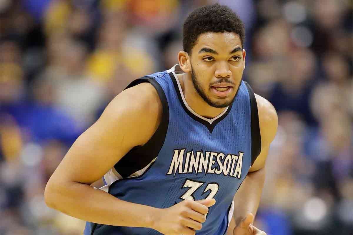 Karl-Anthony Towns, jugador de Minnesota Timberwolves