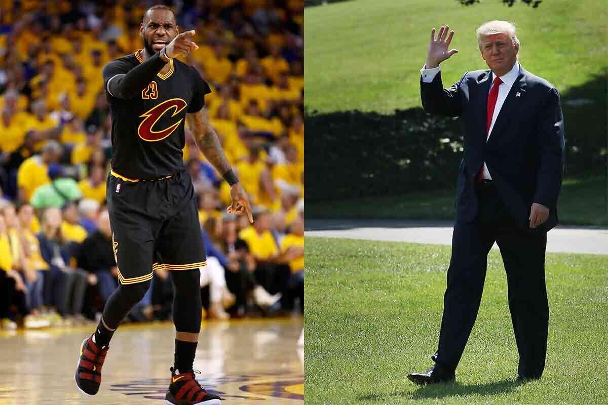 LeBron James carga contra Donald Trump